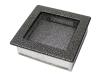 Вентиляционная решетка KRATKI гранит-хром 17х17