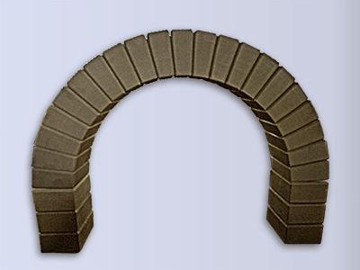 Кирпичные арки для каминов, печей, барбекю (коричневая)